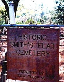 Smith Flat Cemetery Sign