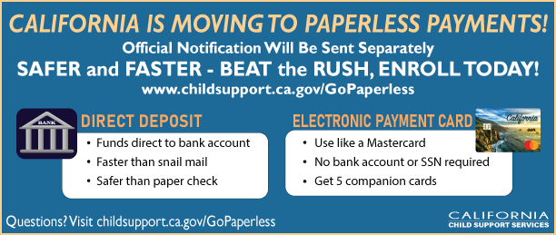 California is moving to paperless payments!